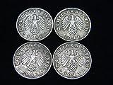 Four (4) WWII German Reichspfennig Coins Dated 1940, 1941, 1942 &1943