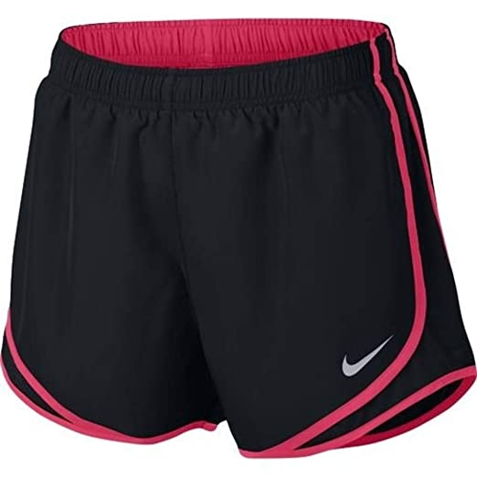 e88021fa1631 Amazon.com: Nike Tempo Running Shorts 7624278 028-Black/Pink Pow-S ...