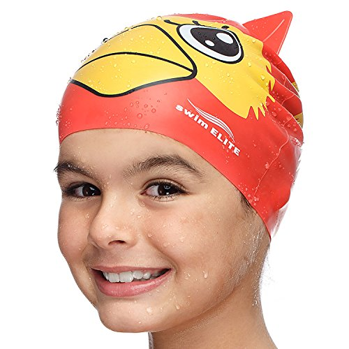 Fun Swimming Cap for Kids & Toddlers - Youth Swim Caps for Girls, Boys & Children aged 4-12   Baby & Kid Swim Caps for Long and Short Hair   (Infant Long Cap)