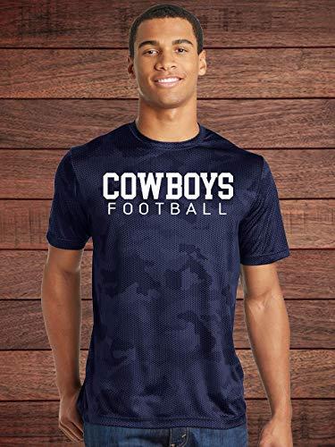 (COWBOYS Football Navy Camo Dry-Fit Shirt - Dallas - High School - Middle School)