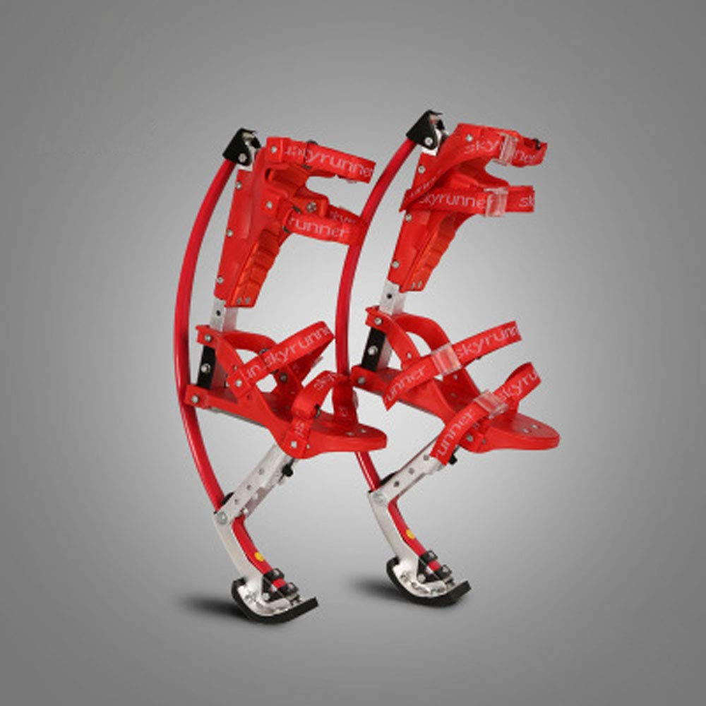 Yoli RED Skyrunner Jumping Stilts Children 30-50 kg high Strength Aluminum Alloy Kangaroo Stilts by Yoli