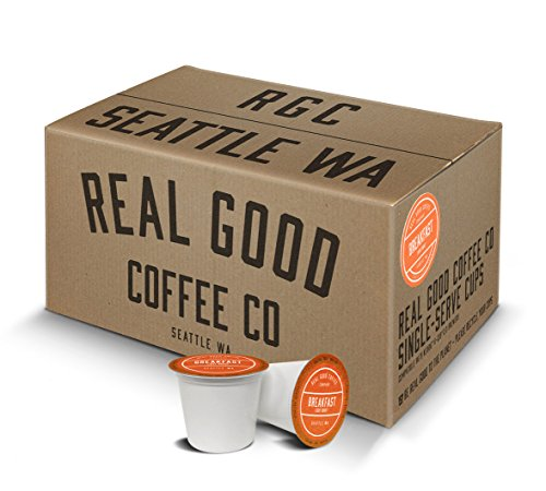Real Good Coffee Co Recyclable K Cups, Breakfast Blend Light Roast, For Keurig K-Cup Brewers, 72 Single Serve Coffee (Breakfast Blend Light)