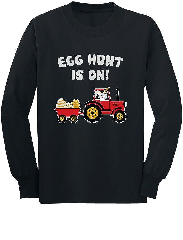 Easter Egg Hunt Gift for Tractor Loving Kids Toddler//Kids Long Sleeve T-Shirt