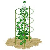 Mr.Garden Mini Trellis garden trellis for potted climbing plants support 6.3'' Dia x 7'' Dia x 8.1'' Dia x 24'' H,3 Rings,3 Sets