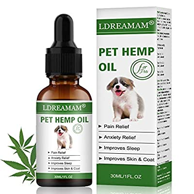Cat Health Products LDREAMAM Hemp Oil for Dogs Cats, Pets Hemp Oil for Pain Relief,Separation...