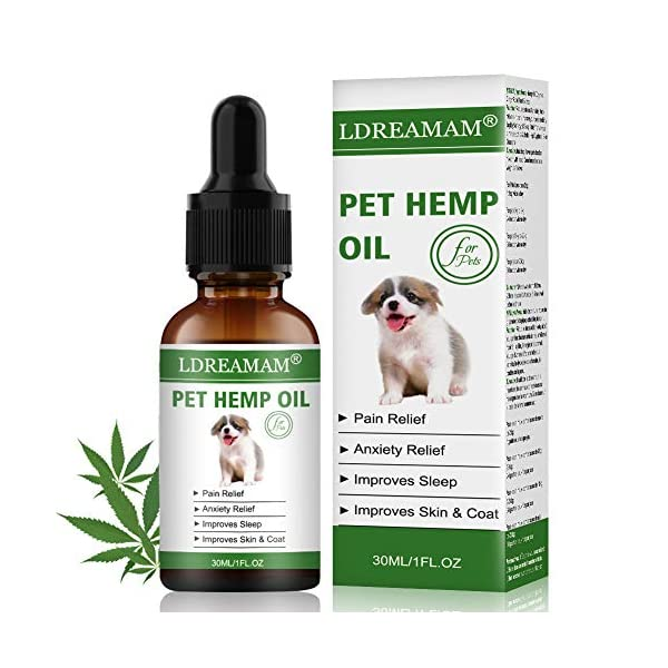 Cat Health Products LDREAMAM Hemp Oil for Dogs Cats, Pets Hemp Oil for Pain... [tag]