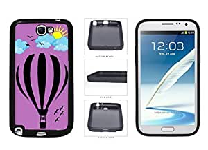 Hot these Air Balloon With Cloudy Sun And Birds TPU Rubber Silicone Phone Case alternative Back Cover For Samsung Galaxy Note II and 2 has N7100