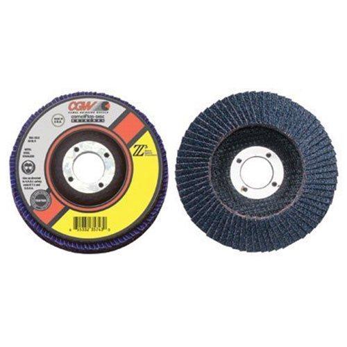 40 Grit 42542 Lot of 10 Zirconia CGW Abrasives Abrasive Flap Disc 5 x 7//8