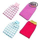 Best GENERIC Exfoliating Gloves - Rocutus 4pcs Unisex Children Adult Bathing Gloves-Shower Bathroom Review