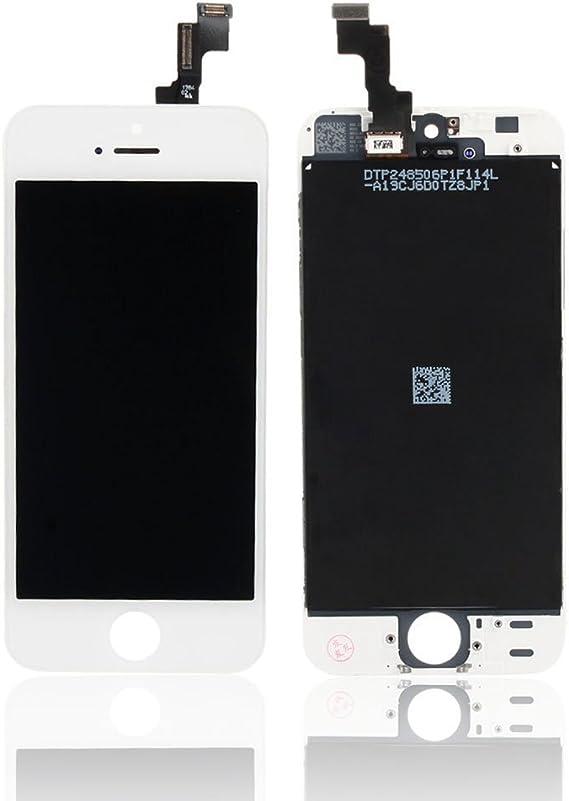 Kit reparacion completo Cristal de Pantalla Digital Negro para Iphone 5 5S 5C