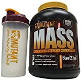 Mutant MASS Gainer, Ultimate Size and Strength Gainer, 6 Pound with BONUS Mutant Shaker Bottle (Triple Chocolate)