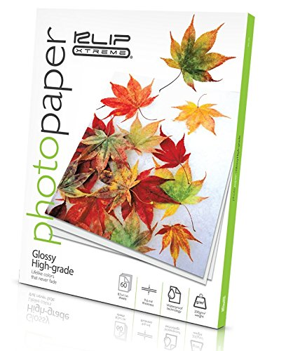 2cc8dec0ad40 Klip Xtreme Glossy Photo Paper- 8.5in x 11in- 60 Page Pack- 10.8 Mil  Thickness- ISO Brightness 96