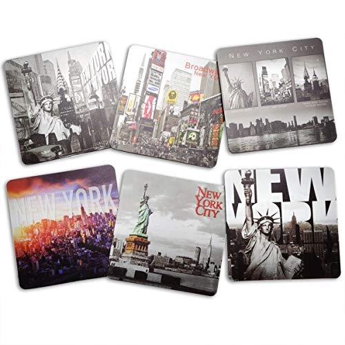(New York / NY NYC B&W Photo Beer and Drink Coaster Pack of 6)