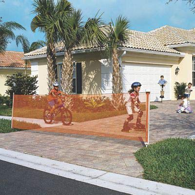 Kidkusion Retractable Driveway Guard, Orange, 20'   Driveway Safety; Outdoor; Barrier; Adjustable by KidKusion (Image #3)