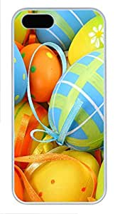 iPhone 5 5S Case Easter Egg Decorations PC Custom iPhone 5 5S Case Cover White