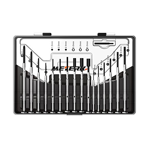 Meterk Precision Screwdriver Set, 16-Piece Phillips Hex Socket Slotted Head Screwdriver Set with Case for mobile phone, Computer, Jewelry Repair, Watch Repair, Eyeglass Repair etc