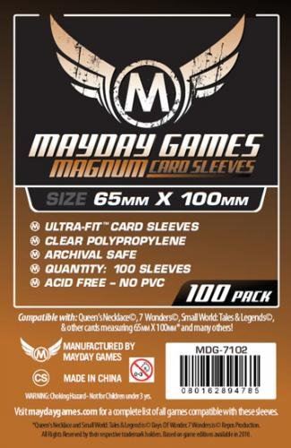 100 Mayday Games 65 x 100 Magnum Ultra-Fit Copper - Board Game Sleeves