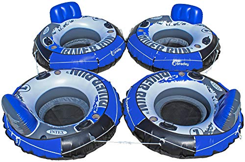 Intex Heavy Duty River Run Tube with Cover (4 Pack) | Floating Lounger | River Tube by Intex (Image #1)
