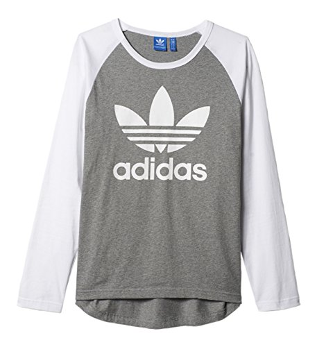 b2e5b53d71559 adidas Men's Trefoil LS Tee Grey/White AY7803 at Amazon Men's ...