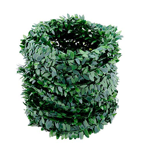 32.8 Yards Artificial Ivy Garland Foliage Green Leaves Fake Vine Headband Artificial Leaf Vine Fake Hanging Plants for Wedding Party Ceremony DIY Headbands -