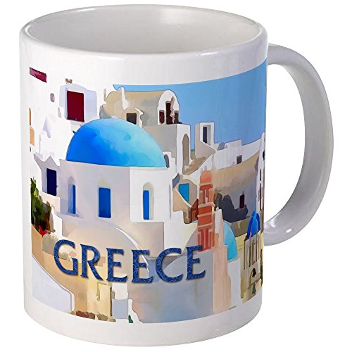 CafePress Blinding White Buildings In Greece Mugs Unique Coffee Mug, Coffee Cup