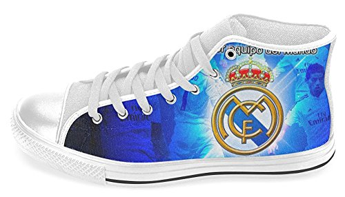 Mann Høy Topp Sneakwers Med Real Madrid Cf Logo Shoes04