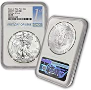 2020 (W) 1 oz American Silver Eagle Coin MS-70 S$1 (First Day of Issue - Struck at West Point Mint) NGC by Coi