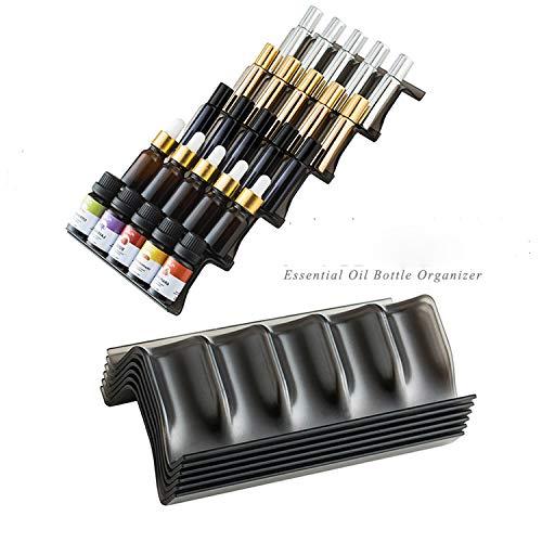 Essential Oils Storage,Essential Oils bottle organize - 5pc Starter Set - Holds 25 Oil Bottles (5mL-20mL) Expandable Essential Oil Holders for Organizing & Displaying Oils (black) (Essential Storage Oil Drawer)
