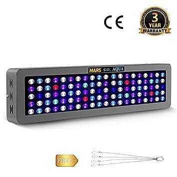 MarsHydro - Lámpara LED de Acuario de 300 W Regulable y Brillante para Acuario, Espectro Completo, Arrecife Coral LPS/SPS: Amazon.es: Jardín