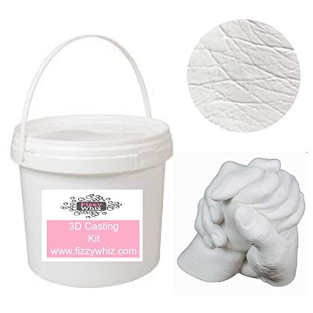3D Casting Kit - Holding Hands Family Moulding Powder Paint Tools Plaster Mixing Bucket (Set 2 - Silver Paint) NA