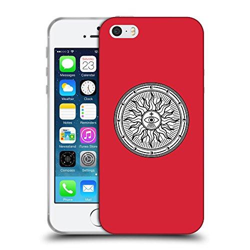 GoGoMobile Coque de Protection TPU Silicone Case pour // Q09660601 Mystique occulte 15 Alizarine // Apple iPhone 5 5S 5G SE