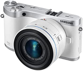 "Samsung NX300 20.3MP CMOS Smart WiFi Mirrorless Digital Camera with 20-50mm Lens and 3.3"" AMOLED Touch Screen (White)"