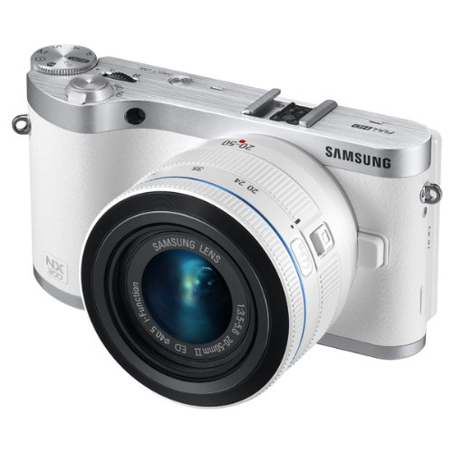 Samsung NX300 20.3MP CMOS Smart WiFi Mirrorless Digital Camera with 20-50mm Lens and 3.3