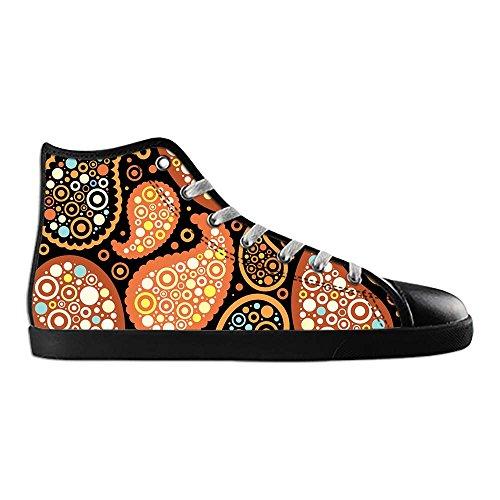 Dalliy Farbige Paisley-Print Mens Canvas shoes Schuhe Lace-up High-top Sneakers Segeltuchschuhe Leinwand-Schuh-Turnschuhe C