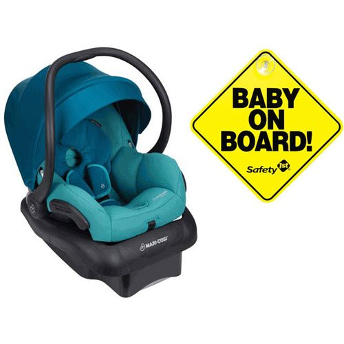 Maxi-Cosi Mico 30 Infant Car Seat – Emerald Tide with Bonus Baby on Board Sign