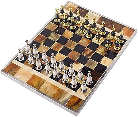 ZOUJUN Juego de ajedrez, Tablero de ajedrez Juego for Adultos y for niños con Grandes Piezas, Caja Portable de ajedrez de Viaje Vida Oficina Sala de Escritorio Decoración Suave: Amazon.es: Hogar