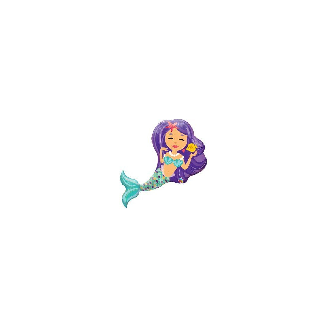 "Qualatex Q57815 Enchanting Mermaid 38"" Qualatex Foil Supershape Balloon GS1"