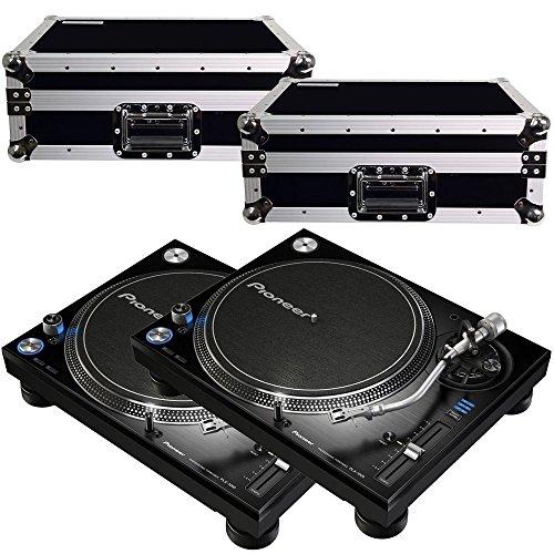 Pioneer DJ PLX1000 Turntables w/ Road Cases