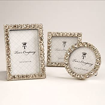 Amazon.com - Two\'s Company 5439 Diamonds Set of 3 Jeweled Mini ...