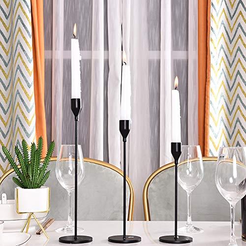 Set of 3 decorative candlestick holders