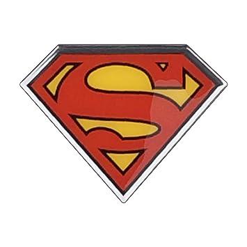 Amazon fan emblems superman logo car decal domedblackredyellow fan emblems superman logo car decal domedblackredyellowchrome finish voltagebd Choice Image
