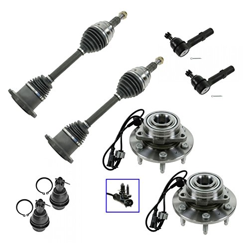 CV Axle Shaft Wheel Hub Bearing Ball Joint Tie Rod for Chevy GMC Truck SUV 4WD