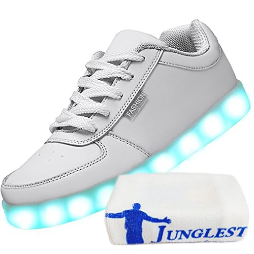 Fl small Present USB Charging Shoes towel Womens Sport JUNGLEST White LED fwAqRFfx