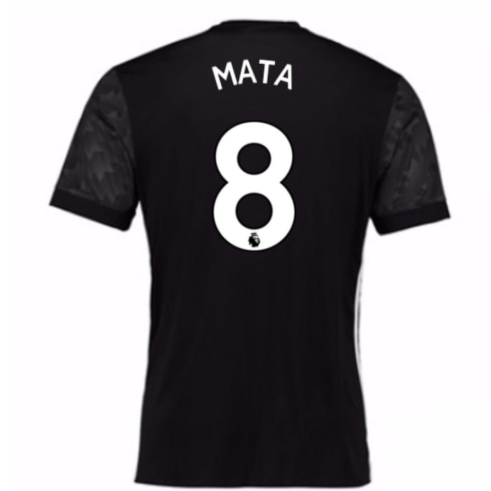 2017-18 Man Utd Away Football Soccer T-Shirt Trikot (Kids) (Juan MATA 8)
