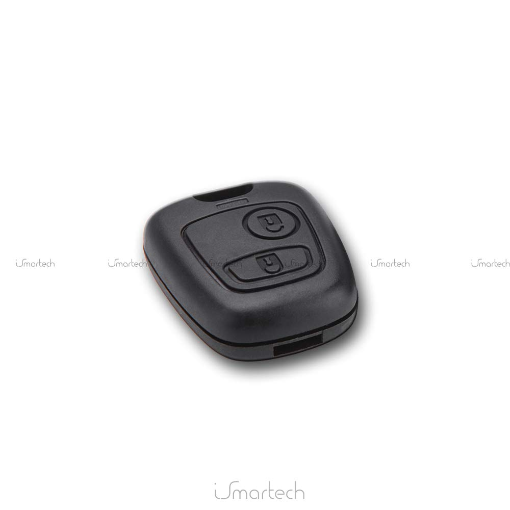 2 Buttons Without Blade Car Key Replacement Fob Without Electronics or Transponder Remote Control Key Fob
