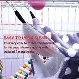 Oncpcare Small Pet Cage Hammock, Triple-Layer Sugar