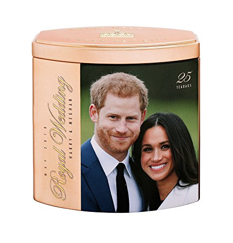 (Ahmad Tea Royal Wedding Caddy, Rose Gold/Silver, Color May Vary, 25 Count)