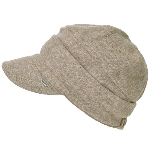 Casualbox Womens Winter Hat Extra Warm Classic Casquette Retro Ladies Lady Light Weight (Beige Extra Light)
