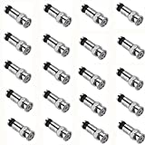 BNC Male Compression Connectors,RG59 Coax Cable Adapter,50-Ohm Nickel Plated Plug with Copper Fitting Pin Use for CCTV Security Camera System Accessories,Extension Video Coaxial Cord 20Pcs/Pack,Silver