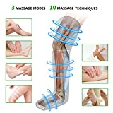 FIT KING Air Compression Leg Massager for Foot Calf and Thigh Circulation Massage and Slimming with Extensions and 3 Modes 3 Intensities